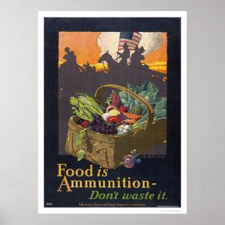 Het voedsel is Munitie Poster
