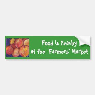 Het voedsel is Peachy bij de Sticker van de Bumper