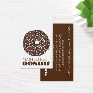Het Voedsel van Donuts van de Winkel van de Visitekaartjes