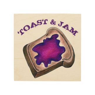 Het Voedsel van het Brood van de toost en van het Hout Afdruk