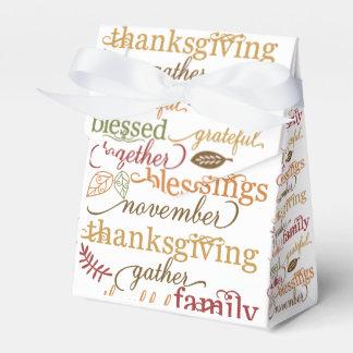 Het Voedsel van het Gevoel van de Thanksgiving Bedankdoosjes
