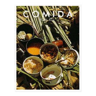 Het Voedsel van het Puerto Ricaan, Geschiedenis, Briefkaart