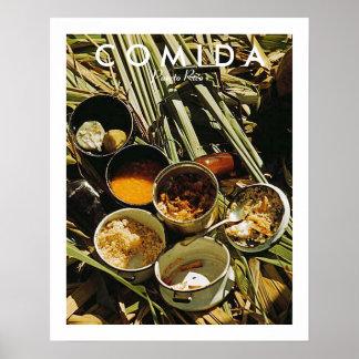 Het Voedsel van het Puerto Ricaan, Geschiedenis, Poster