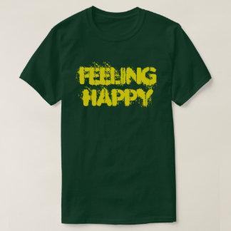 Het voelen van de Gelukkige Fundamentele Donkere T Shirt