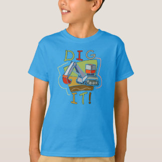 Het Voertuig van de bouw graaft het T Shirt