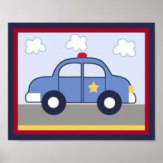 Het Voertuig van de politie/Cop het Poster van de