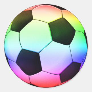 Het Voetbal van Colorfull | Sport van het Football Ronde Sticker