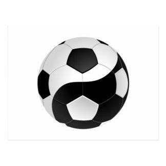 Het voetbal van Yang van Yin Briefkaart