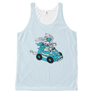 Het vogel-Ei Blauw broodje-E van de Auto van het All-Over-Print Tank Top