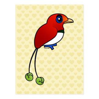 Het vogel-van-Paradijs van de Koning van Briefkaart
