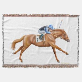 Het volbloed- Paard van het Ras Ruiter werpt Deken
