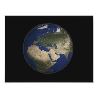 Het volledige uitzicht van de Aarde van Afrika, Foto Afdrukken
