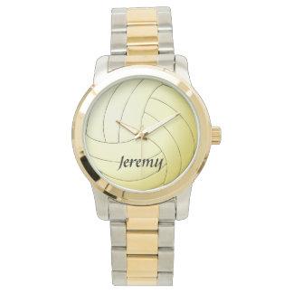 Het volleyball Aangepaste Horloge van de Naam