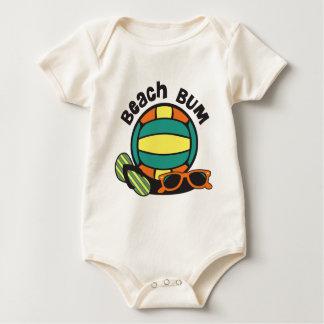 Het Volleyball van de Bedelaar van het strand Baby Shirt