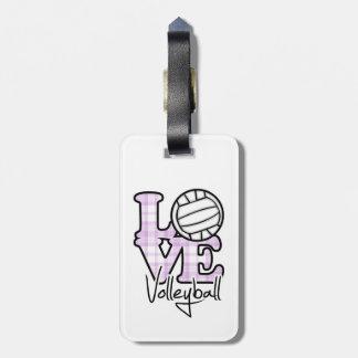 Het Volleyball van de liefde Kofferlabels