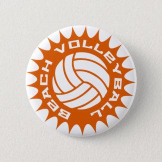 Het Volleyball van het strand Ronde Button 5,7 Cm