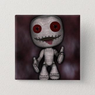 Het voodoo Dolly Vierkante Button 5,1 Cm
