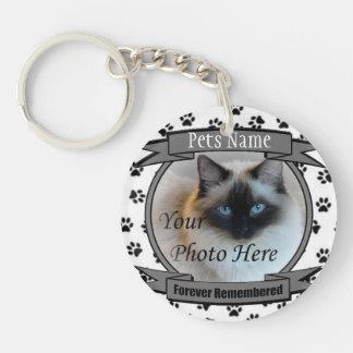 Het voor altijd Herinnerde Gedenkteken van de kat Sleutelhanger