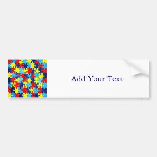 Het voorlichting-Raadsel van het autisme door Bumpersticker