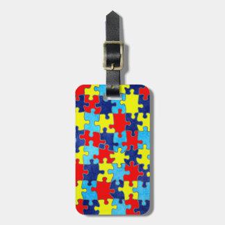 Het voorlichting-Raadsel van het autisme door Kofferlabels