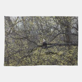 Het Vooruitzicht Painterly van Eagle Theedoek