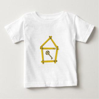 het vouwen van heerser, huisvorm en sleutel baby t shirts
