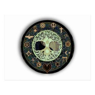 Het vreedzame Leven Yin Yang Briefkaart