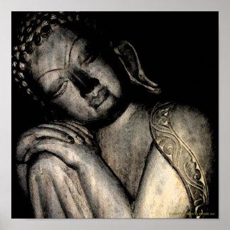 Het vreedzame Poster van Boedha