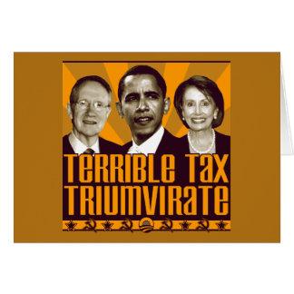 Het vreselijke Trio van de Belasting Briefkaarten 0