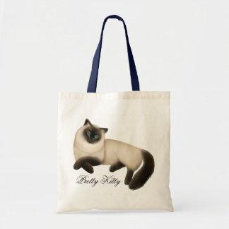 Het vriendschappelijke Siamese Canvas tas van de