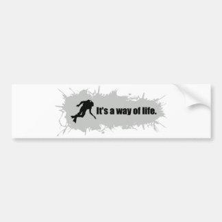 Het vrij duiken is een Manier van het Leven Bumpersticker