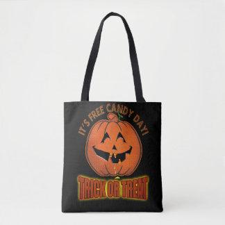 Het vrije Canvas tas van het Trick or treat van