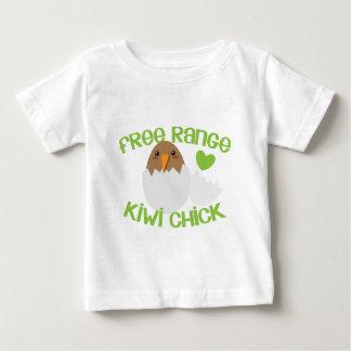 Het vrije kuiken Nieuw Zeeland van de KIWI van de Baby T Shirts