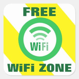 Het vrije Teken van de Streek van WiFi Vierkante Sticker