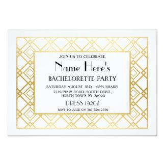 het Vrijgezellenfeest van de Partij van de 12,7x17,8 Uitnodiging Kaart