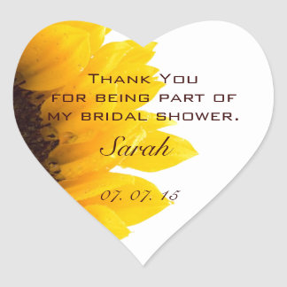 Het Vrijgezellenfeest van de zonnebloem dankt u Hart Sticker