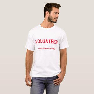 Het vrijwilligers Overhemd van identiteitskaart T Shirt