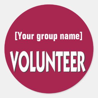 Het VrijwilligersKenteken van de douane Ronde Sticker