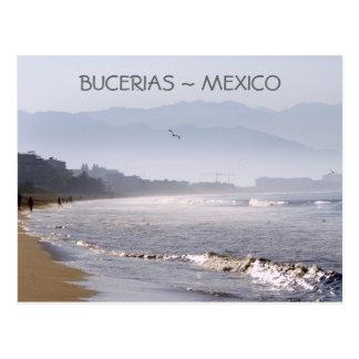 Het vroege Strand Mexico van Bucerias van de Briefkaart