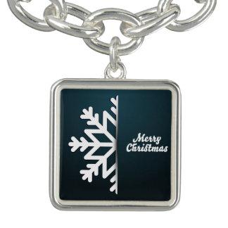 Het vrolijke Blauw van de Sneeuwvlok van Kerstmis Armband
