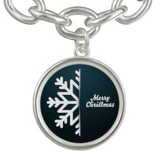 Het vrolijke Blauw van de Sneeuwvlok van Kerstmis Armbandje