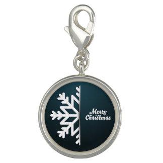 Het vrolijke Blauw van de Sneeuwvlok van Kerstmis Charms
