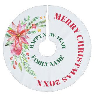 Het vrolijke Boeket van de Bloemen van Kerstmis Kerstboom Rok