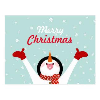 Het vrolijke Briefkaart van de Sneeuwman van