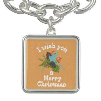 Het vrolijke Decor van de Vakantie van Kerstmis Armbandjes