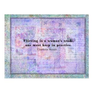 Het vrolijke, flirterige citaat van Charlotte Briefkaart