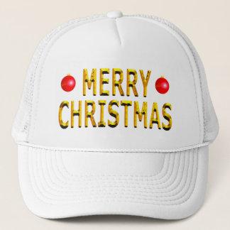 Het vrolijke Goud van Kerstmis Trucker Pet