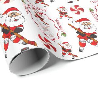 Het vrolijke Hockey de Kerstman van Kerstmis Inpakpapier