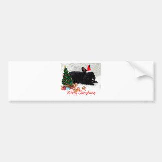 Het vrolijke Konijn van Kerstmis Bumpersticker