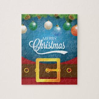 Het vrolijke Kostuum van de Kerstman van Kerstmis Puzzel